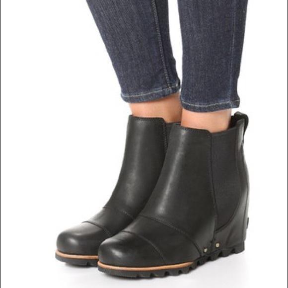 Sorel Shoes - Sorel Women s Lea Wedge Boot - Black 9cd420e58f7f